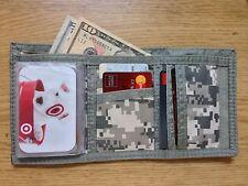 Camo Wallet Tri-Fold Digital ACU Army Military Digital Camo Wallet Bill Fold Men