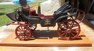 Vintage Hand Made Wooden Model Royals Horse Drawn Carriage