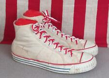 Vintage 1950s Pro Athletic Canvas High Top Basketball Sneakers Gym Shoes Sz.10