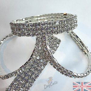 xs Bling Puppy Dog Cat Kitten Collar Diamante, Young Girls Bracelet, Cute Pretty