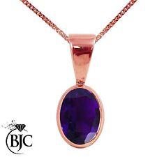 9 Carat Rose Gold Amethyst Fine Necklaces & Pendants