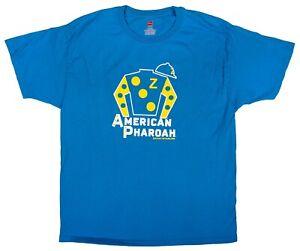 American Pharoah Silks Mens Size XL T-Shirt Triple Crown Zayat Stables Derby