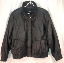 """Women's Wilson's LG black leather """"motorcycle"""" jacket, zip-out Thinsulate lining"""