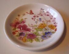 Poole Porcelana Floral Y Bandeja De Pin De Mariposa-en Perfecto Estado