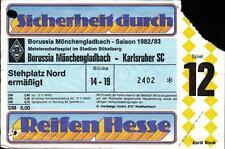 Ticket bl 82/83 borussia mönchengladbach-similar SC