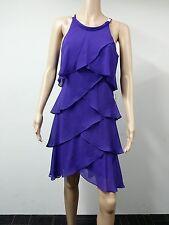 NEW to AUS - Sally Lou - Size 8 - Tiered Chiffon Sleeveless Dress - Purple - $99