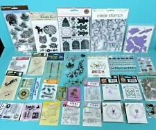 Rubber Cling Mixed Stamp Lot Clear Holiday Christmas Craft Martha Stewart Unused