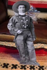 "Calamity Jane Real Western Personality Tabletop Display Standee 10 1/2"" Tall"