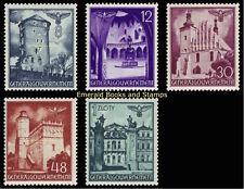 EBS Generalgouvernement 1941 Buildings - Bauwerke - Michel 66-70 MNH**