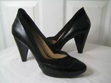 Costume National  Black Platform Pumps Heel Shoes Women's Size 39.5 / 9