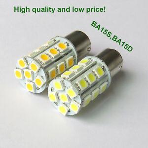 Car BA15S 1156/BA15D 1142 LED Light Bulb 3W 24 5050 SMD DC12V Warm/White New