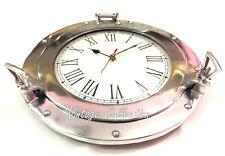 Antique Marine Aluminium Ship Porthole Wall Clock Nautical Home Decor Wall Clock
