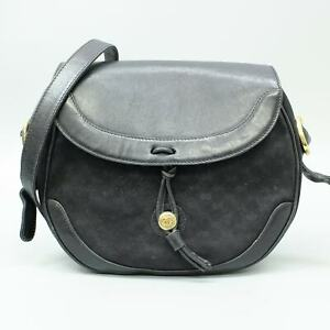 GUCCI Vintage Micro GG Pattern Suede Leather Flap Shoulder Bag 001 256 1094