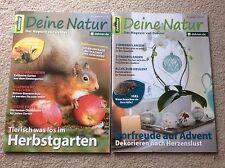 2 Garten Hefte Deine Natur Zeitschrift Magazin v. Dehner Herbst Vorfreude Advent