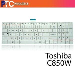 Keyboard for Toshiba Satellite C850 C850D C855 D L850 L850D L855 L855D US White