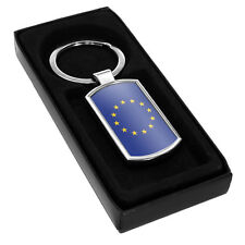 European Union Flag Metal Keyring 068