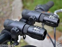 Pair Cree Q5 LED Zoomable Bike Cycling Head Light Front Flashlight Torch Lamp R1