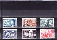 France 1955 - Série complète T. neufs** YT 1012 à 1017