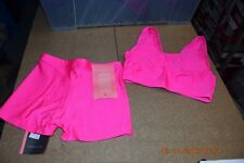 Neon Pink hotpants and tops gymnastics/dance  size 2 - Age 8-10