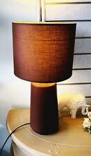 Brown Ceramic Table / Desk Lamp