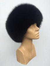 Black Saga Fox Fur And Mink Fur Top Full Fur Hat