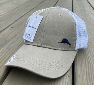 Tommy Bahama Tip Your Cap Margarita Trucker Baseball Hat Red White Blue Marlin