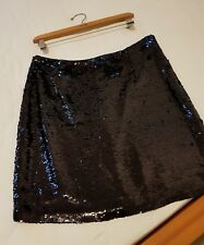 pied a terre blue sequin skirt size 12