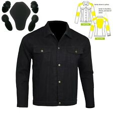 Motorcycle Denim Jacket lined with DuPont™ KEVLAR® Aramid Fibre with CE Armour