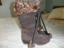 SPORTO Chelsea $109 H2OProof Brown WINTER BOOT Lace-Up MIDCALF 6M Faux Fur Trim