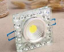 LED Cristal Luz Cuadrada Foco Empotrada Luminaria Techo Foco Hogar