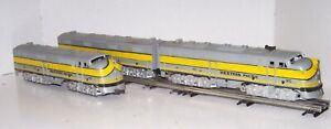 O Scale Marx 3 Piece Set #901 WESTERN PACIFIC Diesel Engines & B-Unit Lot B21-20