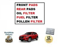 FOR MAZDA CX5 2.2DT 2011->ON FRONT + REAR PADS SET OIL + FUEL + POLLEN FILTERS