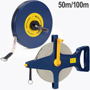 Rollbandmaß 50m 100m Bandmaß Maßband Kapselmaßband Messband Rollmeter Laserwaage