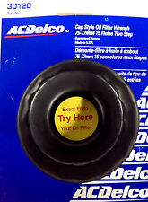 """ACDelco Cap Style Oil Filter Wrench 75-77MM 15 Flutes 2-Step 3/8"""" Dr 30120 *USA*"""