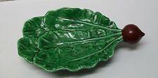 Radish and Green Leaves Serving Dish Belo Portugal Bowl Vintage