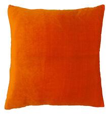"""Decorative Velvet Cushion Cover Orange Soft Pillow Case Indian Art 18"""" PL18540"""