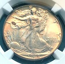 1946 Walking Lib. 50c NGC MS63 Below Greysheet Nice Tone Scratch-Free Holder CHN
