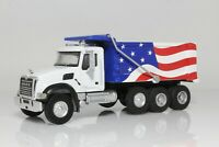 Mack Granite Dump Truck, USA, American Flag, 1:64 Scale Diecast Model, SD Trucks