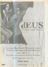 """(ANEW3) POSTER/ADVERT 15X11"""" DEUS : IN A BAR, UNDER THE SEA ALBUM"""