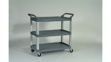 Rubbermaid Commercial Products Fg409100gray Utility Cart300 Lb Load Cap