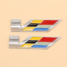 One Set 3D Trunk Fender V Series Emblem Badge For Cadillac SRX XTS ATS CTS ATSL