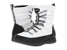 Skechers Women's Boulder Waterproof Bungee Snow Boots White/Black Size 7 NEW