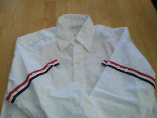 NWOT Thom Browne White Oxford Cloth Grosgrain Sleeve Stripes TB3 MSRP $450