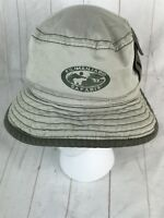 Walt Disney World Kilimanjaro Safari Khaki Green Bucket Fishing Hat Cargo Pocket