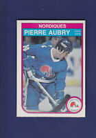 Pierre Aubry RC 1982-83 O-PEE-CHEE OPC Hockey #277 (NM) Quebec Nordiques