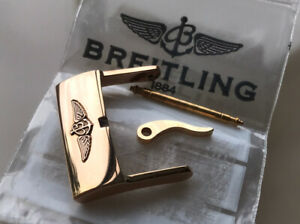 New Unused Solid Rose Gold R20BA.1 Breitling 20mm Pin/Tang Buckle
