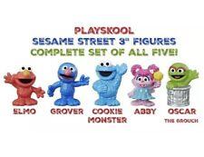 Complete Set Sesame Street Friends Elmo Oscar Cookie Monster Abby Figures Hasbro