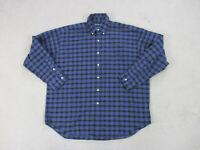 Ralph Lauren Polo Button Up Shirt Adult Large Purple Plaid Pony Casual Mens