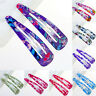 10Pcs Sheet Multicolour Hair Snap Clips Claws Women's Girls Hair Accessories Set