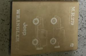 1987 1988 Jeep Wrangler Mr 279 Yj Servicio Tienda Reparación Manual Fábrica OEM